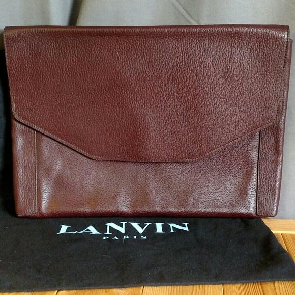 Lanvin Other - Lanvin Sartorial Envelop Bag Men's Clutch-Bordeaux